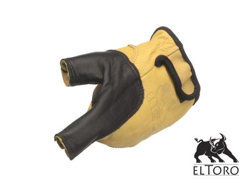 elToro Bogenhandschuh schwarz-gelb für die linke Hand (L) -