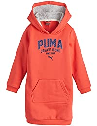 Puma vestido de niña Style Graphic Sweat Dress, niña, Kleid Style Graphic Sweat Dress, Naranja rojizo (cayenne), 140