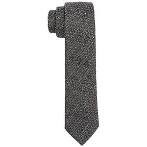 Calvin Klein Navelli Tonal Diagon Corbata, Gris (Medium Grey), Talla única (Talla del fabricante: OS) para Hombre