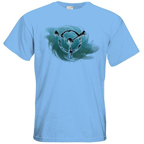 getshirts - Das Schwarze Auge - T-Shirt - Götter und Dämonen - Namenloser Frost Sky Blue