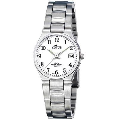 Lotus 15193–2–Reloj de pulsera de mujer, correa de acero inoxidable color plata