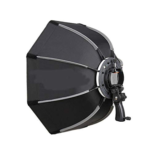 MDFGHJD 90Cm Photo Octagon Umbrella Light Softbox mit Griff Photography Studio Zubehör Softbox 3 Monolight Kit