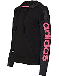 1ec507c6405 adidas Womens Performance Reload Black climalite Cotton Pullover Hoodie