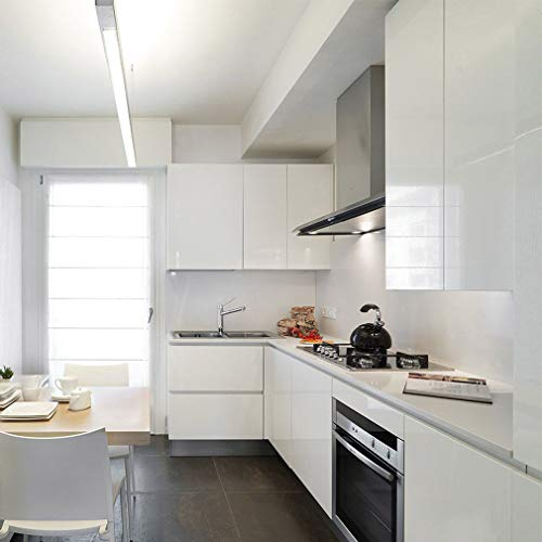 KINLO Aufkleber Küchenschränke weiß 61x500cm aus hochwertigem PVC Tapeten  Küche Klebefolie Möbel wasserfest Aufkleber für Schrank selbstklebende  Folie ...