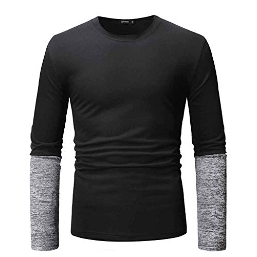Basic-104 Keyboard (DNOQN Polo Shirt Männer Langes Sportshirt Männer Langärmliges T-Shirt Baumwoll T-Shirt Lässig Unten Oben Bluse Slim Shirt M)