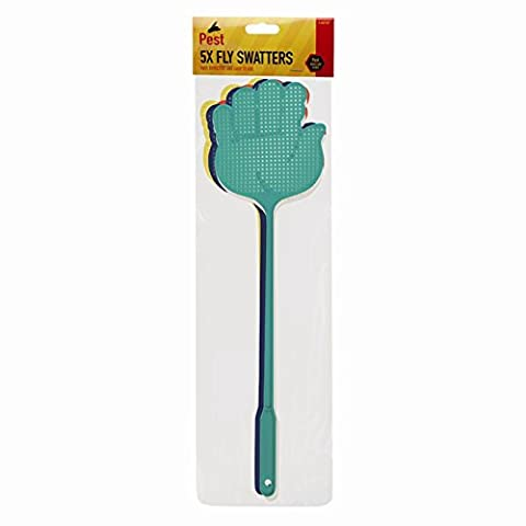 Invero 5 x Pack of Fly Insect Swat Swatter Bug Mosquito Wasp Swatters ideal for Indoor or Outdoor Home Travels