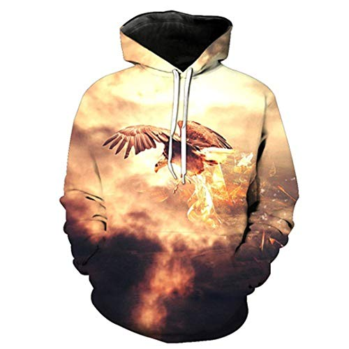 Hoodies Man Air King Flying Eagle Bedruckte Mode mit Kapuze Swearshirts Tops Pullover LMWY-020 XXXL Eagle Womens Zip Hoodie