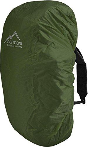 normani wasserdichter Regenueberzug Raincover Regenhülle für Backpacks Rucksack Farbe Oliv Größe 60-70 Liter