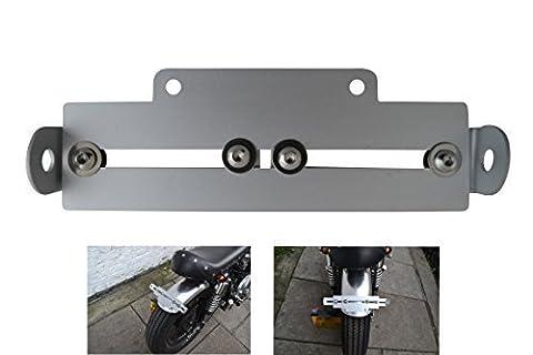 Support de plaque d'immatriculation arrière réglable pour moto - compatibilité universelle
