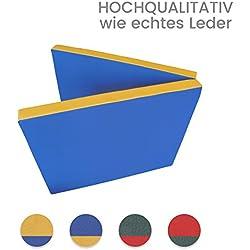 Niro-Sport GmbH - Colchoneta deportiva (plegable en 2 partes, 2000 x 800 x 80 mm, 5 kg, piel sintética), color azul