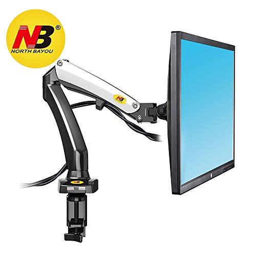 """NB North Bayou F100 17\"""" - 27\"""" Monitor Tischhalterung mit Justierbare Gasfeder Monitorhalterung Ergonomische Bildschirmhalterung 2-6kg Frei Drehbar 360°mit 2 USB2.0 …"""