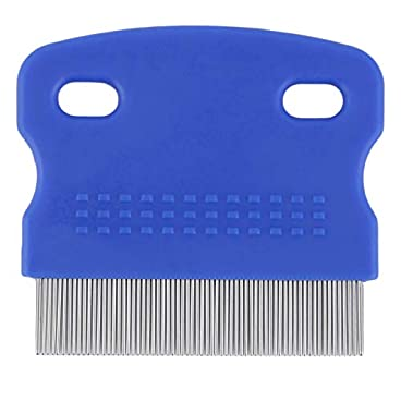 fghdf Pet Cat Dog Small Steel Fine Toothed Grooming Flea Comb Debris Removal Tool