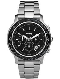DKNY NY1477 - Reloj para hombres, correa de acero inoxidable color plateado