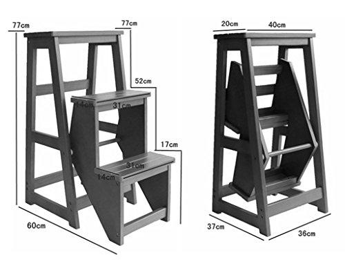 Scaletta pieghevole in legno massello tre strati scaletta sgabello