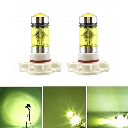 2 x H16 5202 LED Niebla luz Bombilla 100W Alta Potencia 2828 SMD oro Amarillo Conducción DRL Lámparas de Luz