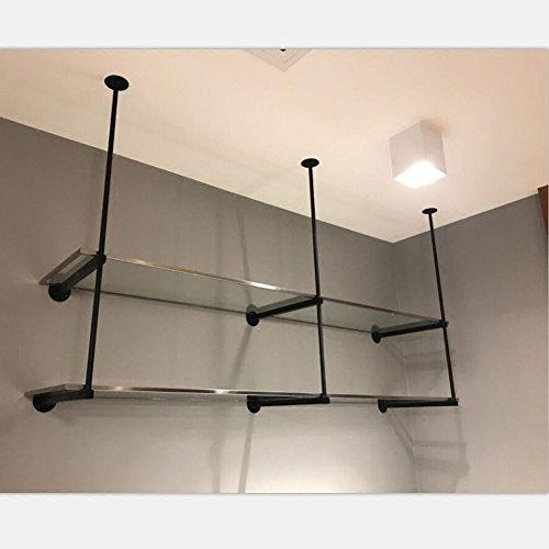 Wandregal-schwimmender Ausstellungsstand-Bücherregal Multifunktions-dekoratives Eisen-einfache und Moderne Breite 30cm, 3 Größen (Color : 80X30CM) -