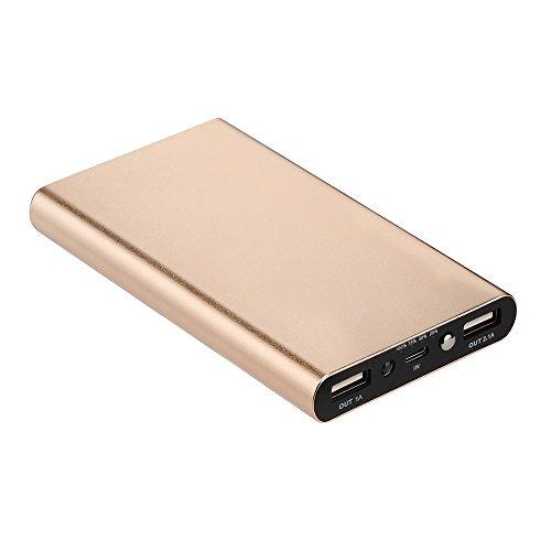 Vimoli Batterie Externe 20000mAh Double USB de Secours Chargeur Portable Mince Power Bank Output Intelligent pour iPhone, iPad, Samsung, Huawei, Nintendo Switch, etc (Or)