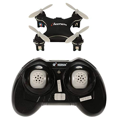 DishyKooker Cheer-Son CX-10SE Mini Dron Quad Copter Pocket Drone Control Remoto Kid Toy 4CH 3D Flips RC Nano Quadcopter Helicóptero RTF Negro