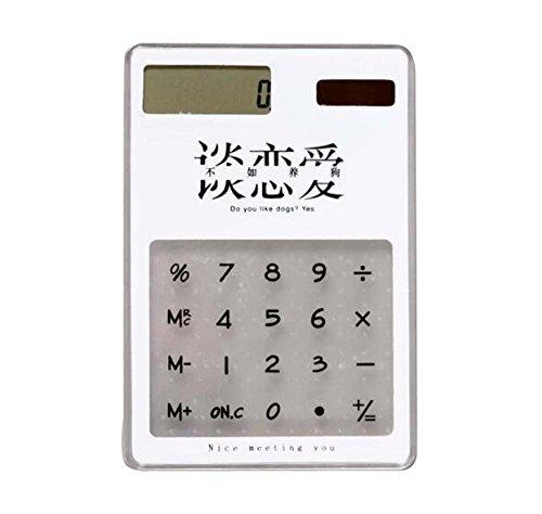 Transparenter kleiner Taschenrechner-tragbarer Geschäfts-Sonnenenergie-Rechner E2