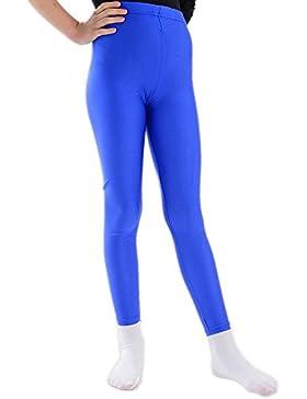 Hochtaillierte Disco Leggings für Mädchen Kinderleggings für 5 bis 12 Jahre in Blau Pink Rot oder Schwarz