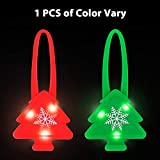 LaRoo Blinkendes LED Hunde Halsband Blinkie Hunde Sicherheit Licht für Hunde (1PCS der Gelegentlichen Farbe (Rot, Grün))