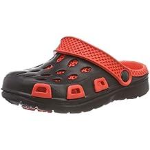 Aqua Speed 5908217663337 Silvi Zapatos, Hombre, Negro/Rojo, Talla 32
