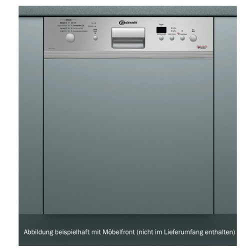 Bauknecht GSIE 100 POWER PT Teilintegrierbarer Einbaugeschirrspüler / AAA / 11 L / 1.05 kWh / 39 dB / 60 cm / Edelstahlblende mit ProTouch-Schutz
