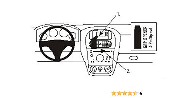 Brodit 852855 Proclip Halterung Schwarz Elektronik