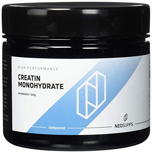 Hochwertiges Creatin Monohydrat Pulver für Muskelaufbau & Leistungssteigerung   Kreatin-Pulver zur Unterstützung im Kraftsport & Bodybuilding   Geschmacksneutral, Vegan   Neosupps - 500g Pulver