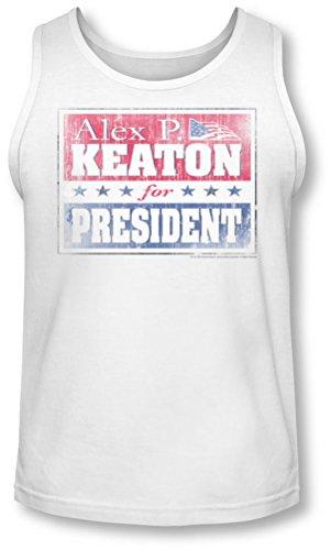 Family Ties - - Alex hommes pour le président Tank-Top, Small, White