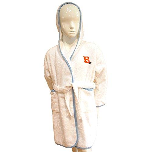 Personalisierte Kinder Halloween-Kostüm Kapuzen Bademantel–Weiß und Blau oder Pink, 100 % Baumwolle, weiß/rosa, 2 Jahre