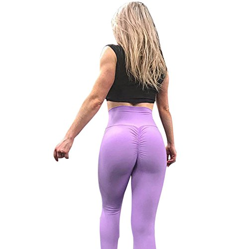 Yazidan Frauen einfarbig Hüften Lange Abschnitt Yoga Hosen Sporthosen Leggings Damenmode Workout Leggings Fitness Sport Gym Laufen Yoga Athletic Pants Armee grün blau rosa lila