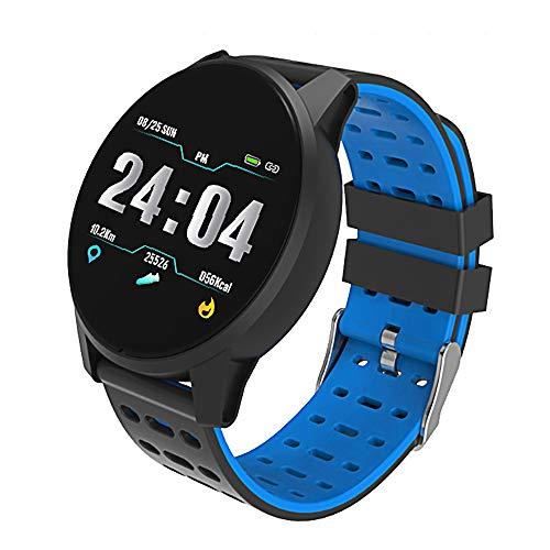 GOHUOS Fitness Armband mit Pulsmesser,Wasserdicht IP68 Fitness Tracker Farbbildschirm Fitness Uhr Aktivitätstracker Schrittzähler Uhr Smartwatch Damen Herren Anruf SMS Beachten für iOS Android Handy