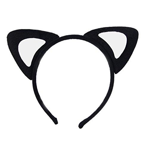ECMQS Heißer Verkauf Frauen Mädchen Mode Plüsch Fuchs Katze Ohren Stirnbänder Haarschmuck (Pfirsich Herz Katze) (Nette Herz Dame Kostüme)