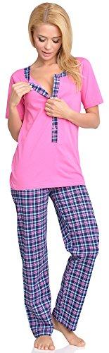 Be Mammy Femme Allaitement Ensemble de Pyjama Eva Rose