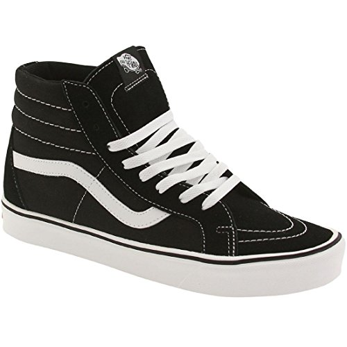 Vans Sk8-hi Lite Plus - Scarpe da Ginnastica Alte Unisex – Adulto, Nero (suede/canvas/black/white), 34.5 EU Nero (suede/canvas/black/white)