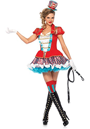 Leg Avenue 85611 Kostüm Zirkusdirektorin Kleid mit Hut Karneval Manege Artistin Circus, Gr. S