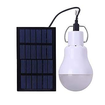 Lampadina a Led a energia solare portatile a Led luce a energia solare, con pannello solare per illuminazione esterni per campeggio, pesca, escursionismo