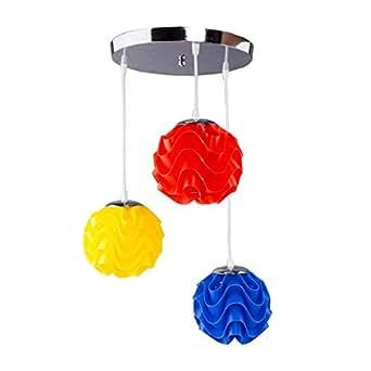 Lustre 3 tOPMAX , lumière multicolore plafonnier pour chambre d'enfant