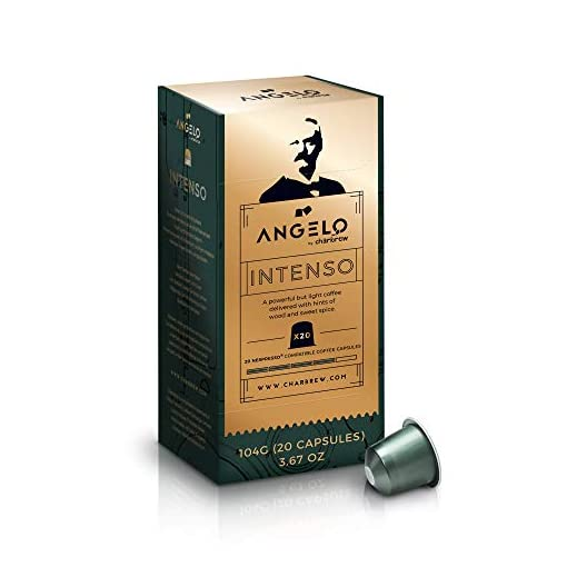 120 Nespresso Compatible Pods Intenso Coffee Pods 6 x 20 Capsules from Angelo By Charbrew