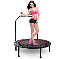 """LBLA 38"""" Foldable Trampoline Mini for Indoor Fitness Bounce Trampoline for Children Kids Adult Outdoor Fitness Equipment Aerobic Exercise"""
