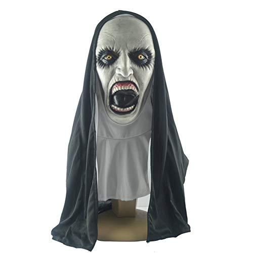 YFF Halloween-Masken, Nonnen, die den Horror töten, neuartige Halloween-Kostüme, Ghost-Horror-Masken, Horrorfilm-Charaktere in Rollen und Kostüm-Requisiten für Erwachsene. (Töten Zombie Kostüm)