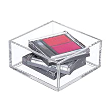 iDesign Makeup Organiser Tray, Extra Small Plastic Drawer Organiser for Cosmetics, Makeup and Accessories, Practical Storage Box for Dressing Table, Drawers or Bathroom, Clear