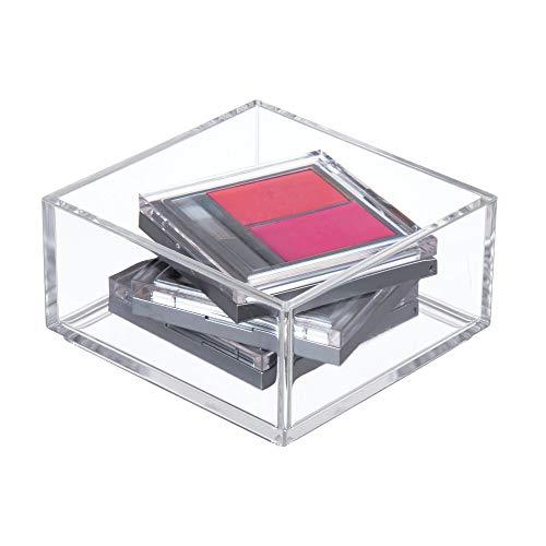 iDesign Aufbewahrungsbox für Bad, Küche oder Büro, extra kleiner Schubladenbox aus BPA-freiem Kunststoff, stapelbarer Kosmetik Organizer für Schminke, durchsichtig