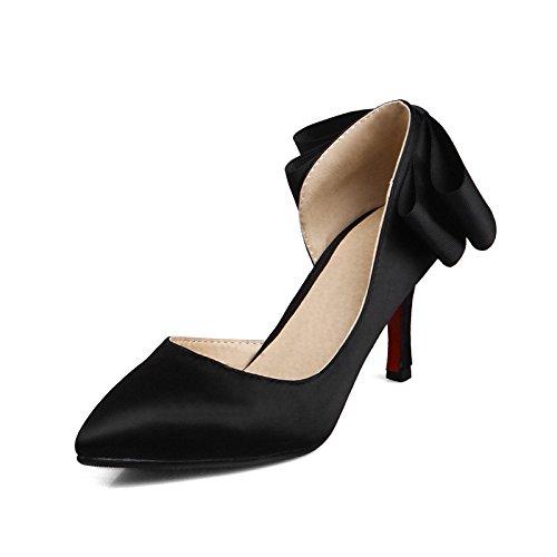 Dimaol Femmes Chaussures Tissu Cadono Printemps Confort Chunky Talons Bow Talon Bowknot Pour Bureau En Plein Air & Carrière Kaki Rouge Noir Noir