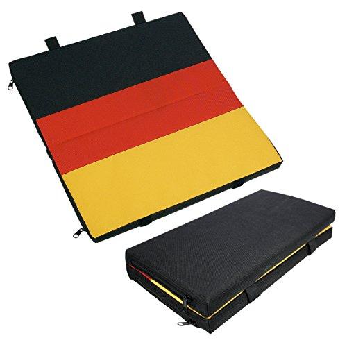 Dick Gepolsterte Kissen (elasto Faltbares Sitzkissen Arena Sitzauflage im Deutschlanddesign Dick Gepolstert Gartenbankauflage 310 x 310 x 25 mm)