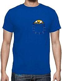 The Fan Tee Camiseta de Hombre Hora de Aventuras Jake Finn Dibujos Animados