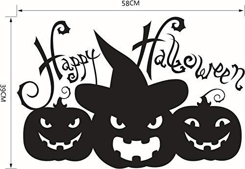 dtattoo Selbstklebend Halloween-Wandaufkleber, Teufel, Lächelndes Gesicht, Glas, Fenster, Wohnzimmer, Aufkleber. ()