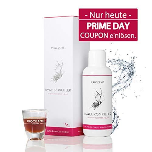 Hyaluron zum Trinken. Prämierter Anti-Aging Beauty Drink für schöne Haut. 25 Tage Anti-Falten Serum. Hyaluronsäure hochdosiert, Vegan