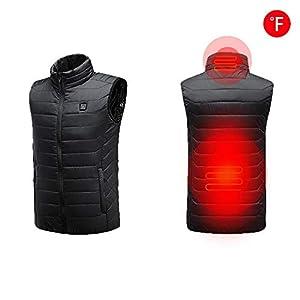 liuxi Beheizte Weste, USB Lade Elektrische Beheizte Körper Wärmer Down Weste, Wiederaufladbare Thermische Infrarot Weste 3 Wärme Einstellungen